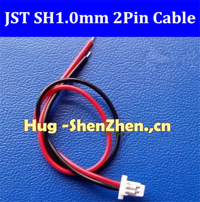 New 200pcs Micro JST SH 1.0mm Pitch 2-Pin Female Connector with Wire jst 2pin 1.0 connector