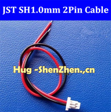 New 200pcs Micro JST SH 1.0mm Pitch 2-Pin Female Connector with Wire jst 2pin 1.0 connector mini micro 1 25mm t 1 4 pin jst connector with wire x 50 sets registered mail