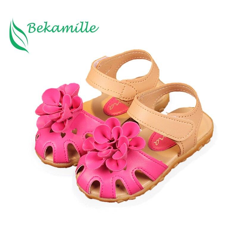 Bekamille Summer Girls Sandal Children Shoes Girls Baby Flower Sandals Infant Toddler Kids Girls Baby Soft Bottom Shoes SY089