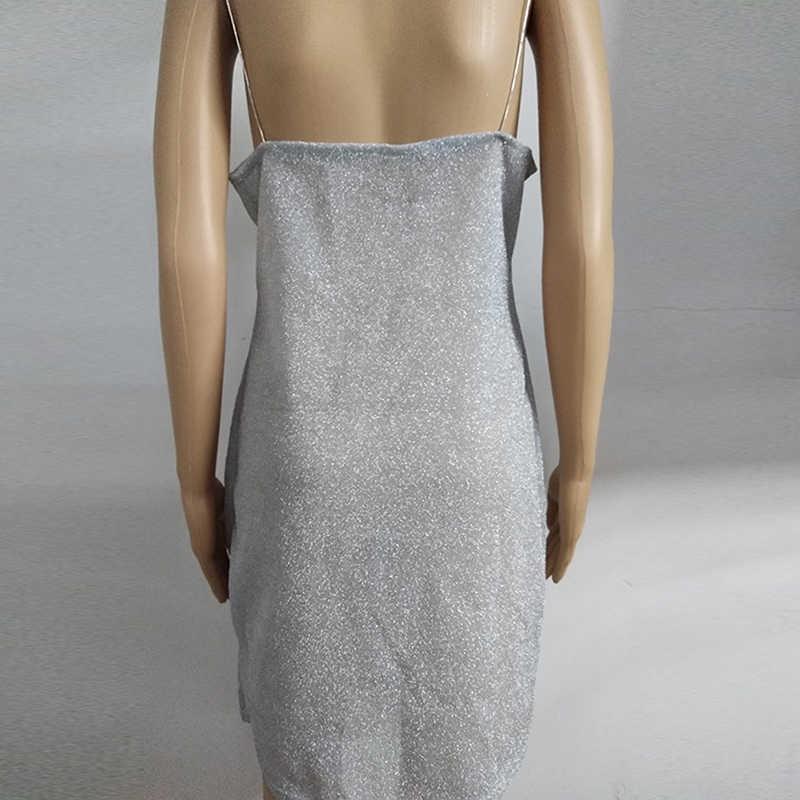 2018 Yeni Kadın Yaz Seksi Backless Bandaj Bodycon Parti Kısa Mini Elbise Casual Spagetti Kayış Bayan Elbise Vestidos 702525