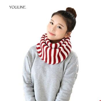 Youline горячая продажа зимний кабель кольцо полосатый шарф женские