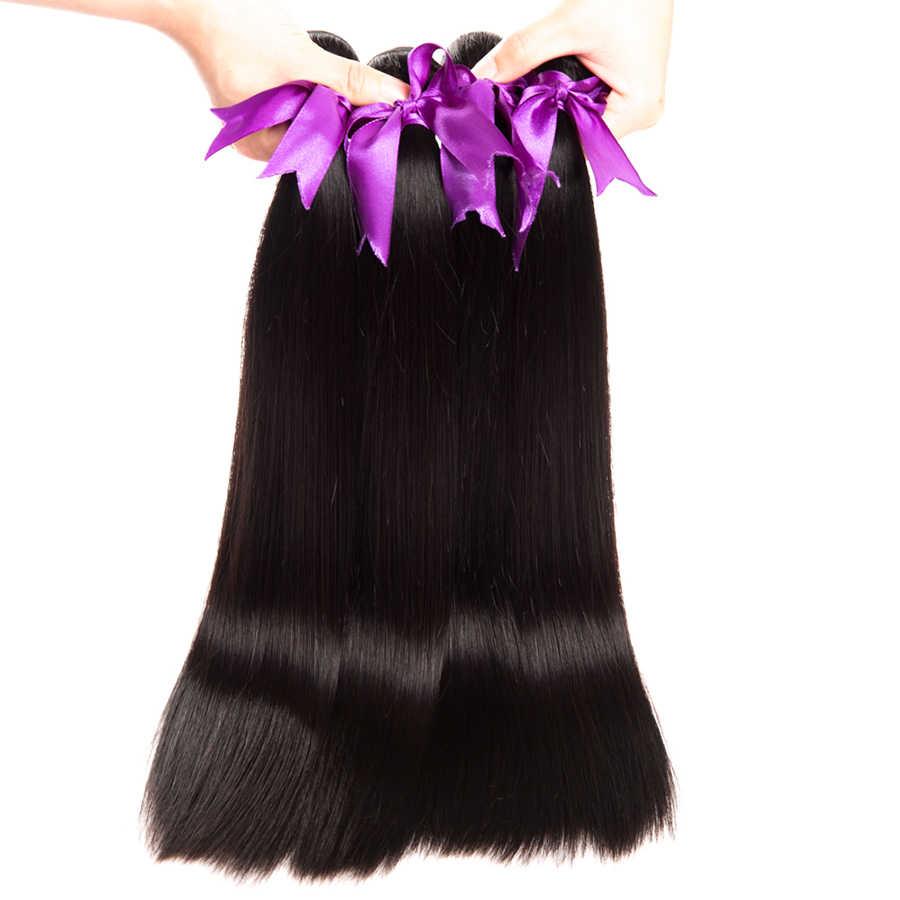 Peruaanse Steil Haar Bundels Menselijk Haar Bundels Remy Human Hair Extensions 4 PCS ALIPOP Natuurlijke Kleur Weave Geen Verlies