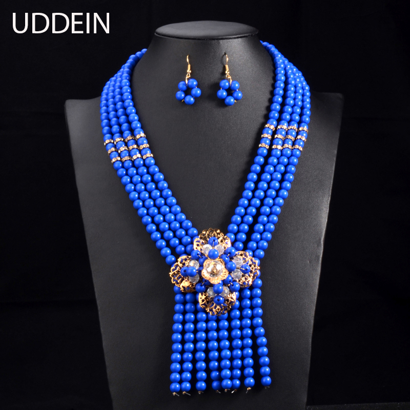 UDDEIN New Nigerian Wedding Jewelry Sets Indian Bride Accessories Crystal Flower Choker  ...