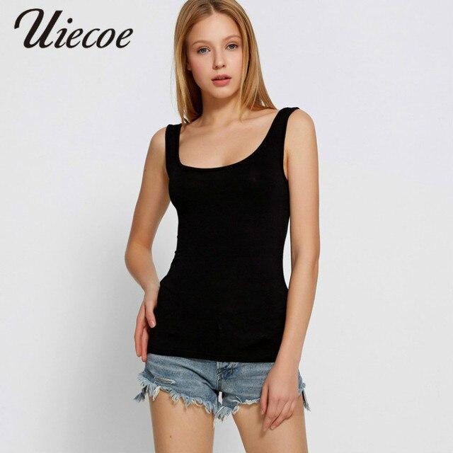 3c884eccfa1 UIECOE 2018 Summer Women Long Cami With Shelf Bra Camisole Adjustable  Spaghetti Strap Tank Top Vest Crop Hot Selling Plus size