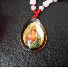 Соборное хрустальное ожерелье Бог христианские украшения Иисуса ретро свитер 35,5*26 мм цепь Европейский металлический материал украшение дома