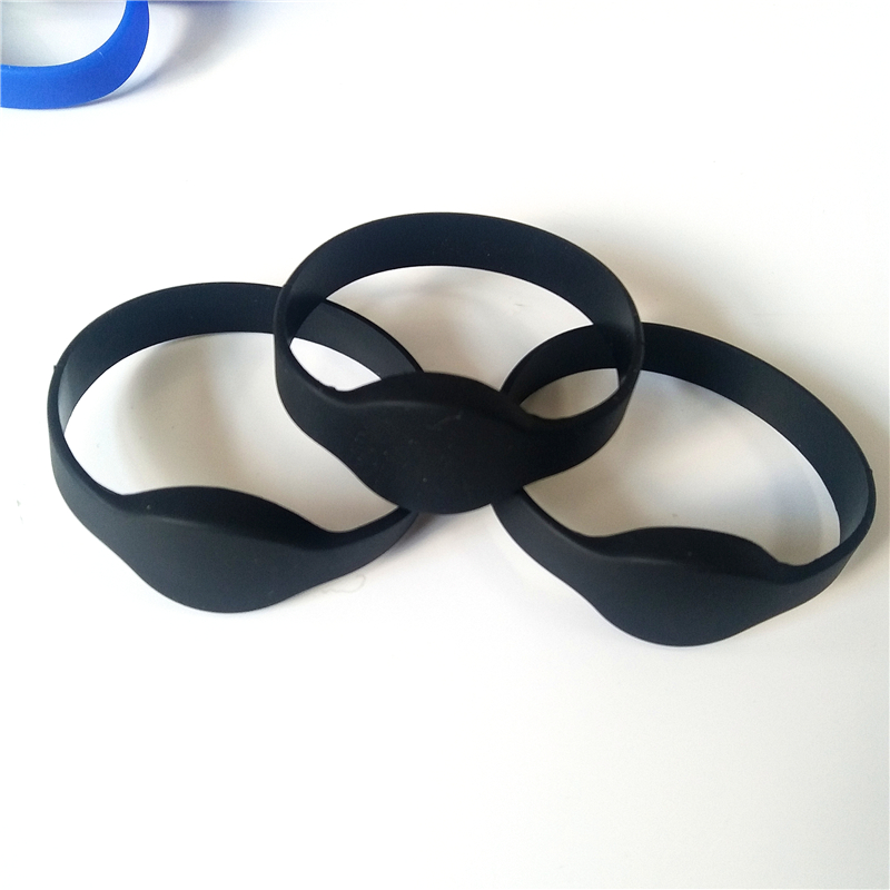 Id-Card Wristband Rfid Bracelet Silicone 125khz Em4100 Tk4100 No-Printed Black Read Only