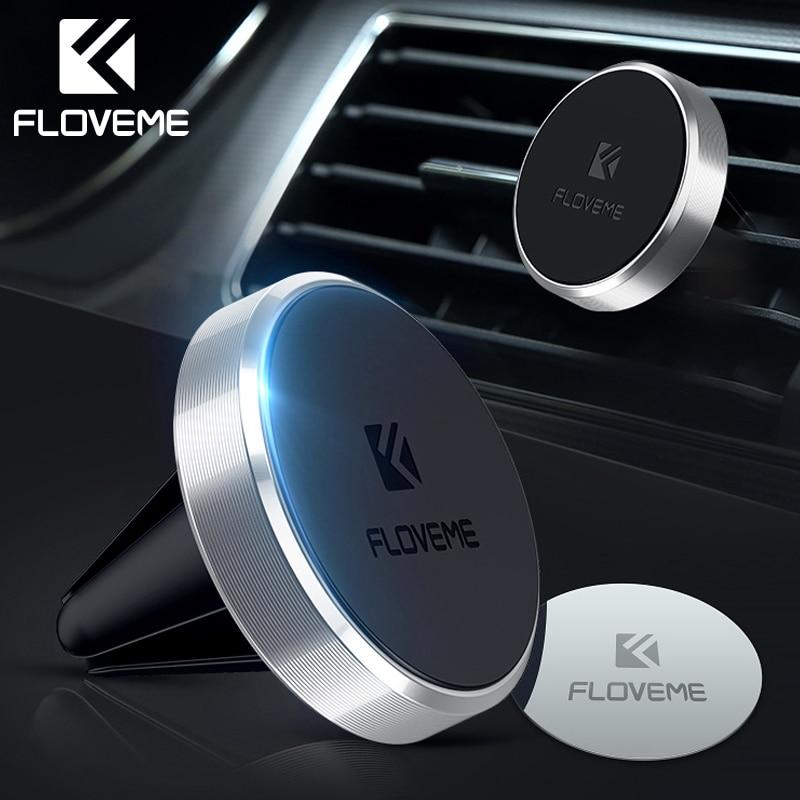 FLOVEME support de téléphone magnétique, support de téléphone magnétique pour iPhone X XS XR Samsung S9, support de montage pour téléphone portable dans la voiture