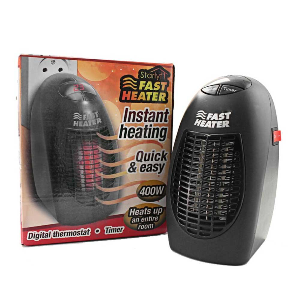 400W 220V Mini Heater UK Plug-in Electric Wall-outlet Space Handy Fast Heater UK