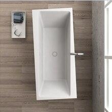 1760x800x580 мм твердой поверхности камня cupc утверждения Ванна прямоугольная отдельно стоящие corian матовая или глянцевая отделка Ванна RS65112