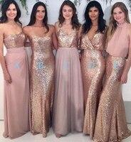 Бесплатная доставка 2018 новый темно розовый длинные нарядные платья изготовление под заказ блестками платье для выпускного вечера Для свад