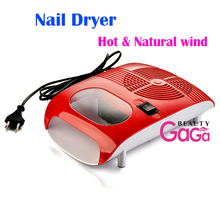 BnG Nail Art Tool 220V Hot and Cold Air Dryer With Fan Red