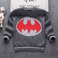 2016 autumn brand children's clothing fashion boy sweater thick double layer 100% cotton high-quality Batman cartoon knit tops