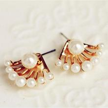European and American Fashion Jewelry Exquisite Little Wild Imitation Pearl Earrings Cute Neckband Free Shipping E164
