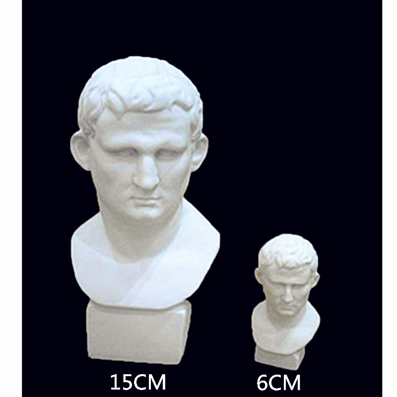 Mini Mareus Vipsanius Agrippa Bust Pantheon Statue Continental Home Decoration Resin Art&Craft Gift L1233
