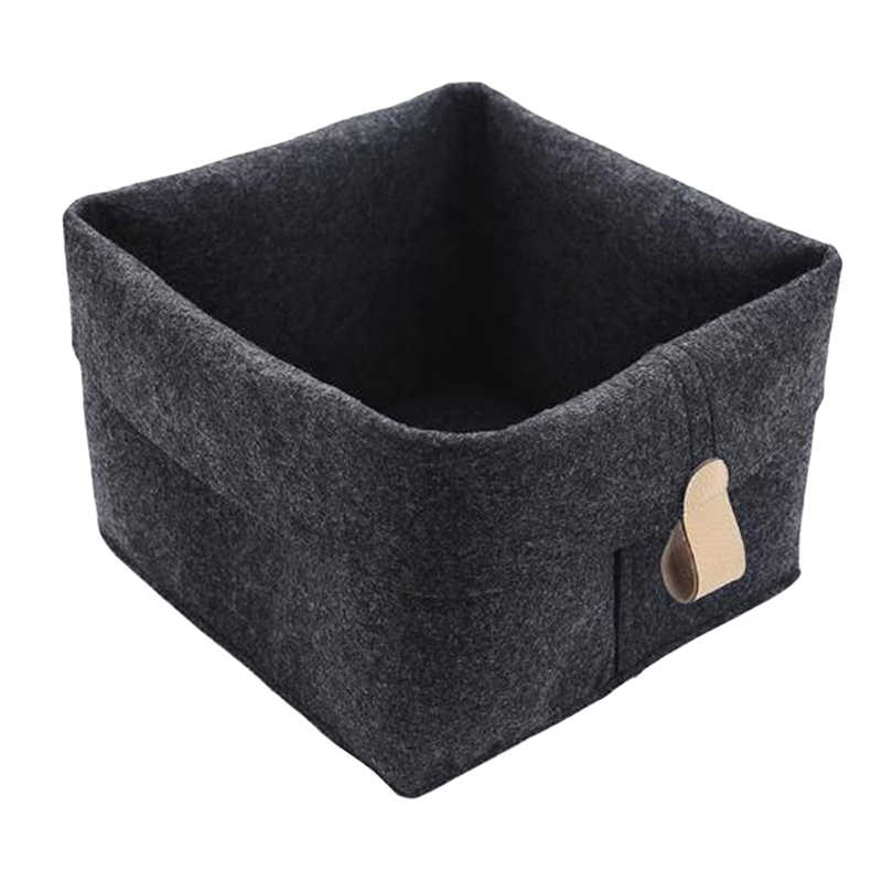 Home Office Storage Key Accessory Basket Small Plant Pot Holder Cute Felt Bag Table Multifunction Container Decor 26.5*23cm