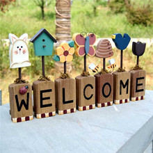 wooden letters welcome shop small home decor trinkets logs