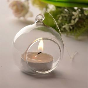 Candle-Holder Hanging Glass Crystal Romantic Dinner-Decor Wedding Home Creative Party