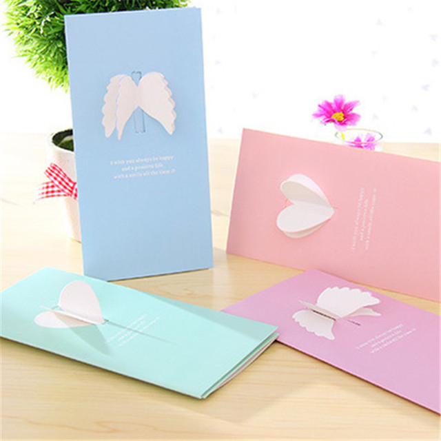 Creative explosion models korean perspective wings greeting cards creative explosion models korean perspective wings greeting cards custom valentines day christmas new year invitation cards m4hsunfo Images