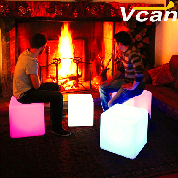 "16"" Big LED Cube Light Furniture"