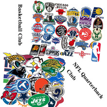 Basketball American football team Graffiti stickers PVC waterproof Suitcase refrigerator computer decorate DIY stick