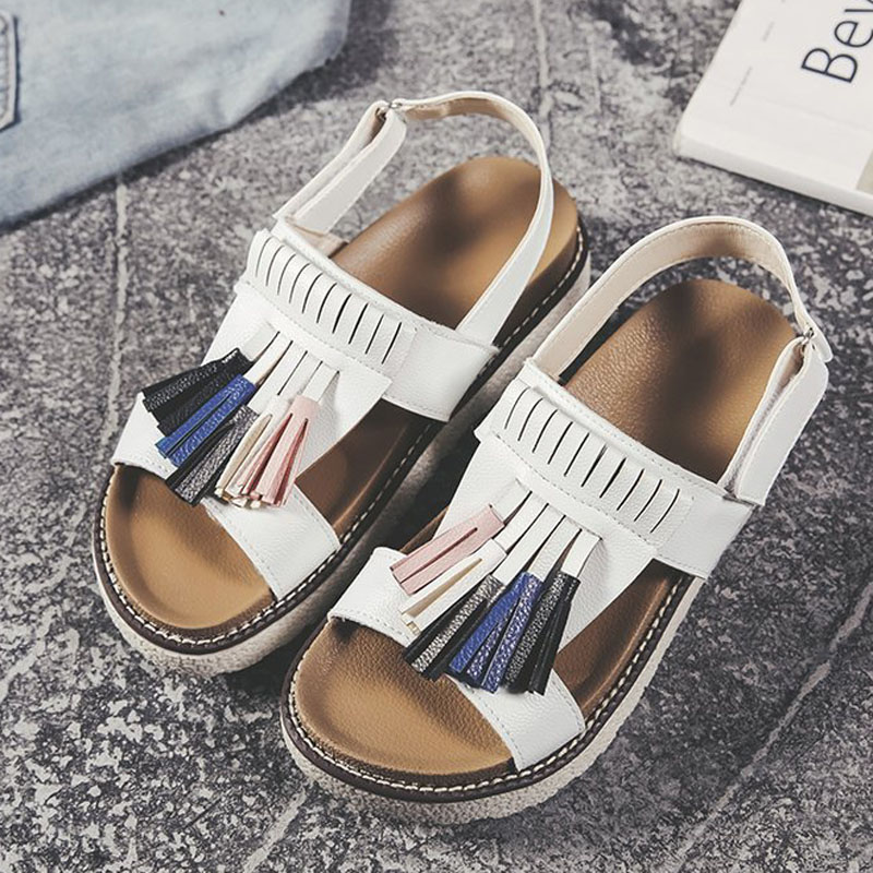 HEE GRAND 2019 New Fashion Women Non-Slip Sandals with Front & Rear Strap Sandals Slip-On Casual Fringe Flat Sandals XWZ5423HEE GRAND 2019 New Fashion Women Non-Slip Sandals with Front & Rear Strap Sandals Slip-On Casual Fringe Flat Sandals XWZ5423