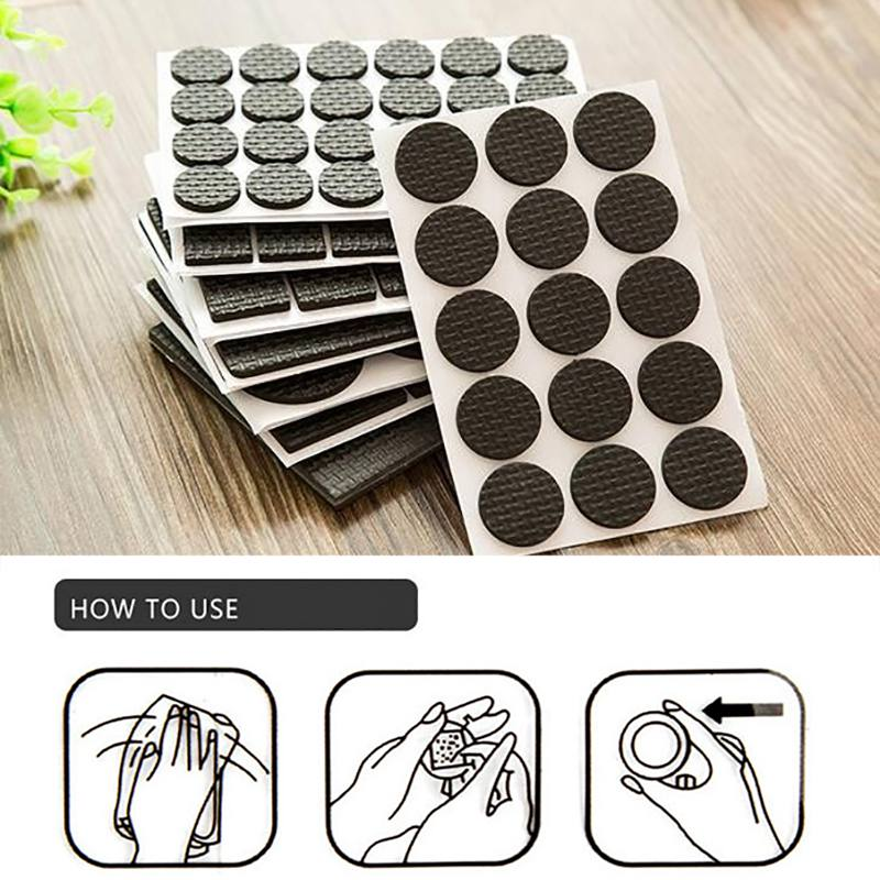 Furniture Feet Skid Protection Pads Floor Protector Pad Non-slip Mat Self Adhesive Desk Feet Cover Noise Avoiding Mat