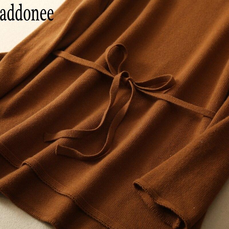 Fit Haute Femmes Solide Laine Chandail Style Qualité beige Automne Col antz Nouveau Mode Brown Ensembles Ceintures Slim Casual Roulé Pantalon Cachemire Hiver De antz H8qxfE
