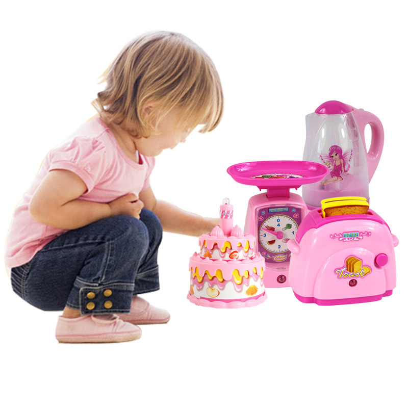 Retail Kids Pretend Play Simulation Mini House Kitchen Liance Microwave Oven Refrigerator Toaster Children Educational Toy