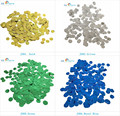 GSCRAFTS 1inch=2.5cm 2000pcs/lot  shiny gold and silver foil confetti for Kids Birthday Party Wedding Party Decoration Supplies