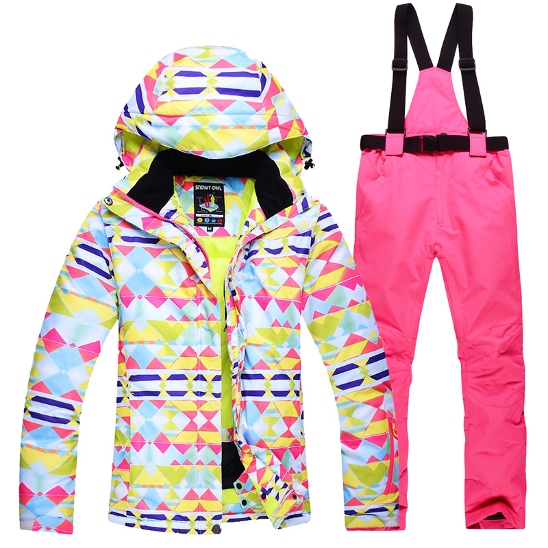 Winter Ski Suit Women New 2018 High Quality Ski Jacket + Pants Snow Warm Waterproof Windproof Skiing Snowboarding Suits Brands