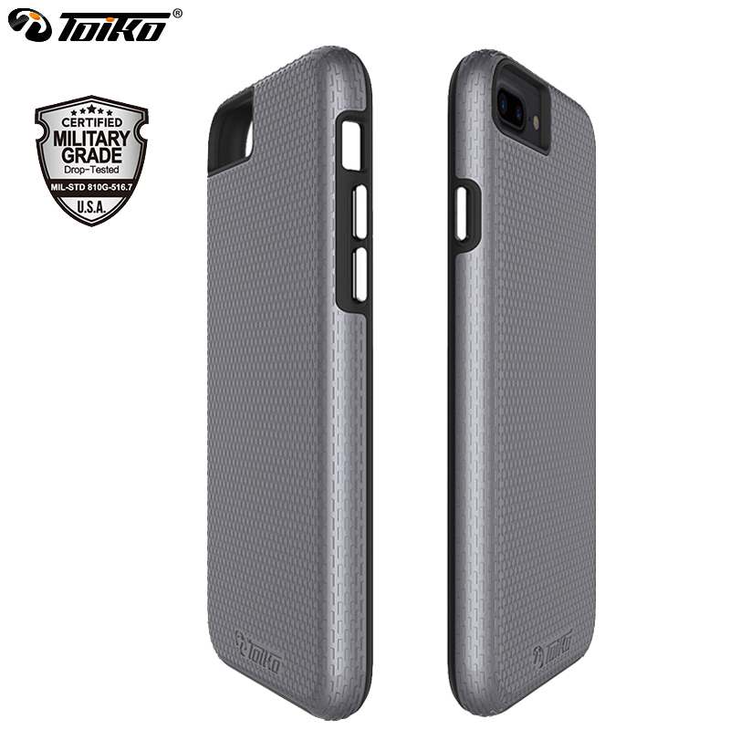b7c338f59dcb TOIKO X Guard Hybrid Case for iPhone 6 6s 7 8 Plus Dual Layer PC TPU ...