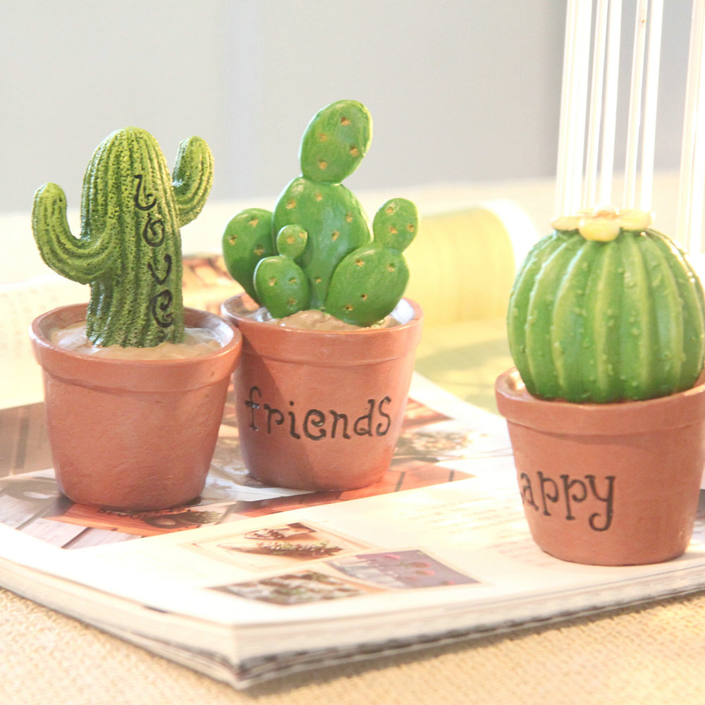 Cactus Small Resin Decoration Home Accessories Plant