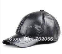 2013 Mens Real Sheepskin Leather Visors Ball Caps Casual HAT CAP 12pcs Lot 3111