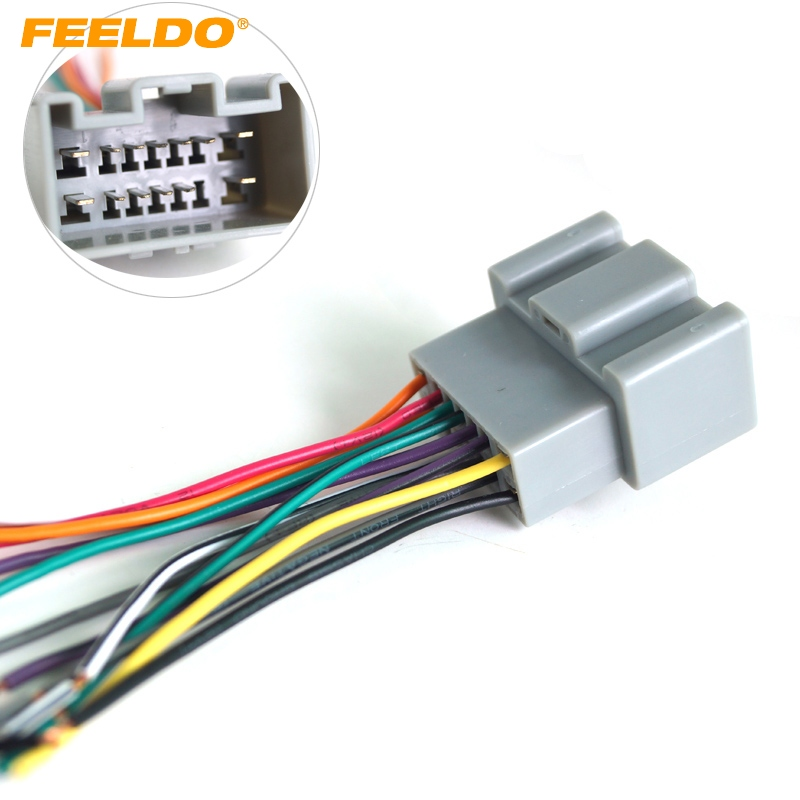 aftermarket car audio wiring harness feeldo 1pc    car    oem    audio    stereo    wiring       harness    adapter for  feeldo 1pc    car    oem    audio    stereo    wiring       harness    adapter for