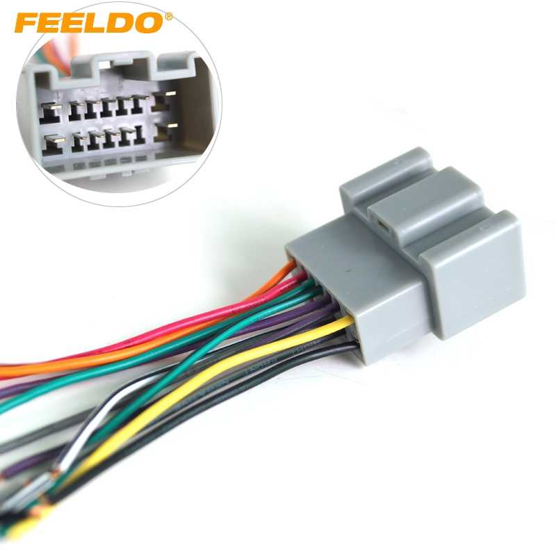 feeldo 1pc car oem audio stereo wiring harness adapter for buick sail/ chevrolet sail install