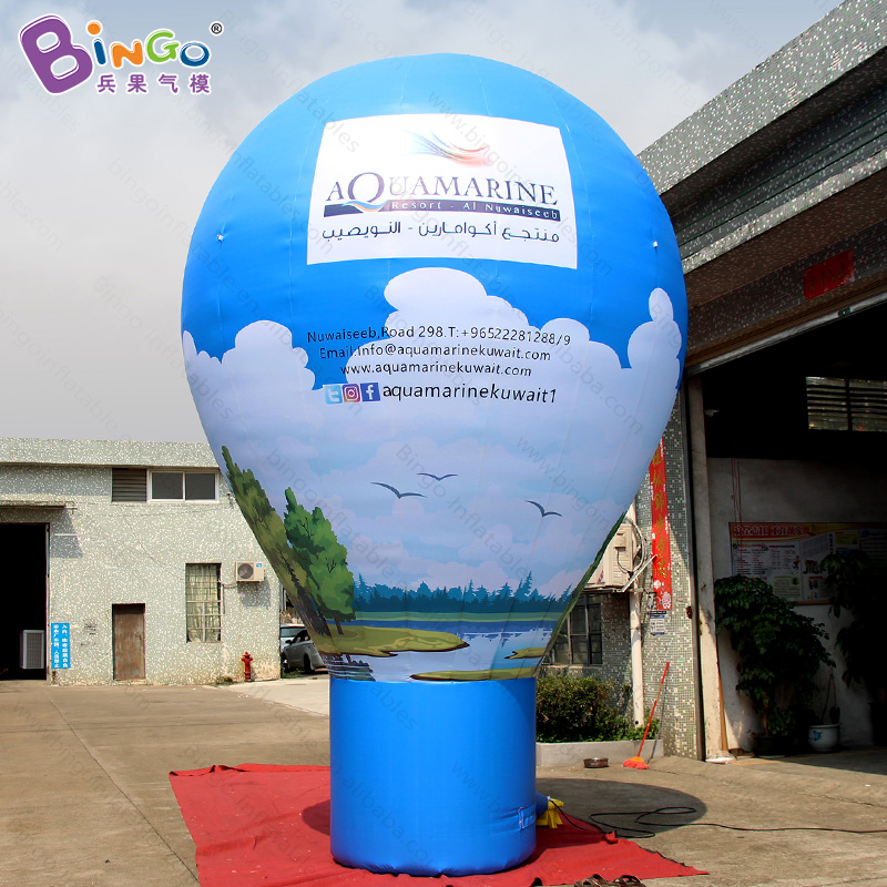 Free shipping 5M high large inflatable ground balloon for promotion customized full printing balloon for advertising toy balloon