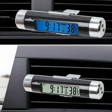 Useful Car Auto Thermometer Clock Calendar 2 in 1 LCD Display Screen Clip-on Dig