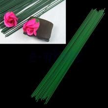 12pcs/lot 60cm Artificial Green Flower Stem DIY Floral Material Handmade Wire Accessoies for Wedding Home Decoration
