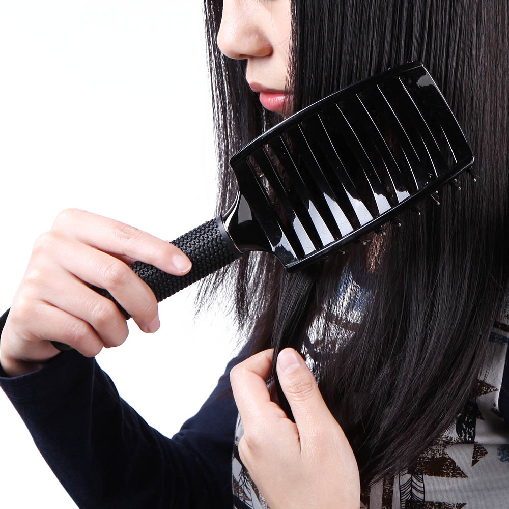 Anti-static Curved Vent Hair Tine Comb Brush Hairdressing Rows Tine Hair Brushes Massage Comb Salon Barber Styling Tool 5