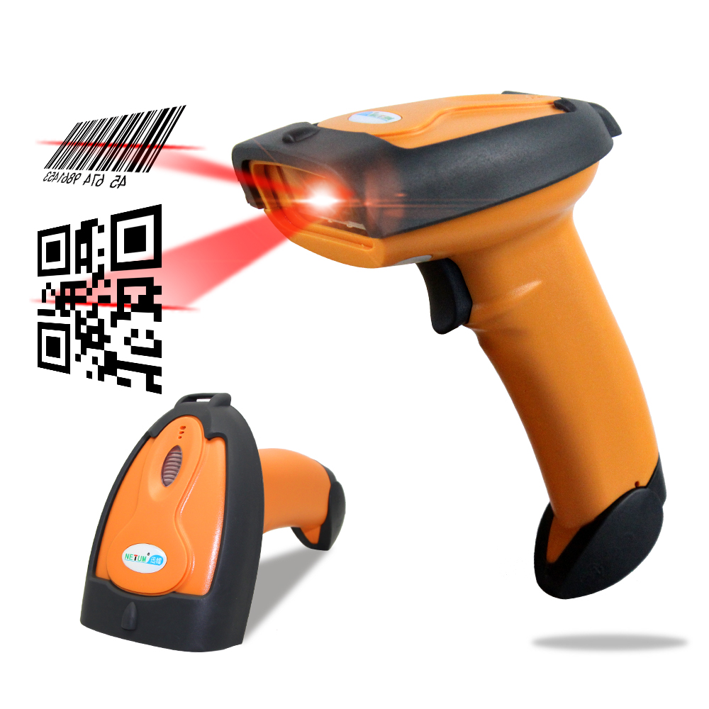 Portable Handheld Laser 2D Barcode Scanner USB QR Code  PDF417 Reader Wired codes scaning for POS sysytem - NT-8099 handheld wired barcode scanner reader usb laser scanner scan for pos z960t