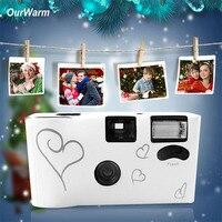 OurWarm Câmera Descartável Ano Novo Presente de Natal Presente 36 Fotos Engraçadas de Casamento Decoração Fontes Do Chuveiro de Bebê do Aniversário Dos Miúdos