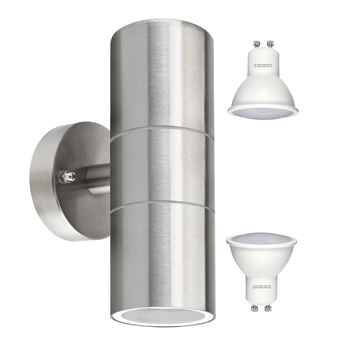 Wholesales item Stainless Steel Up Down Wall Light GU10 IP65 Double Outdoor Wall Light