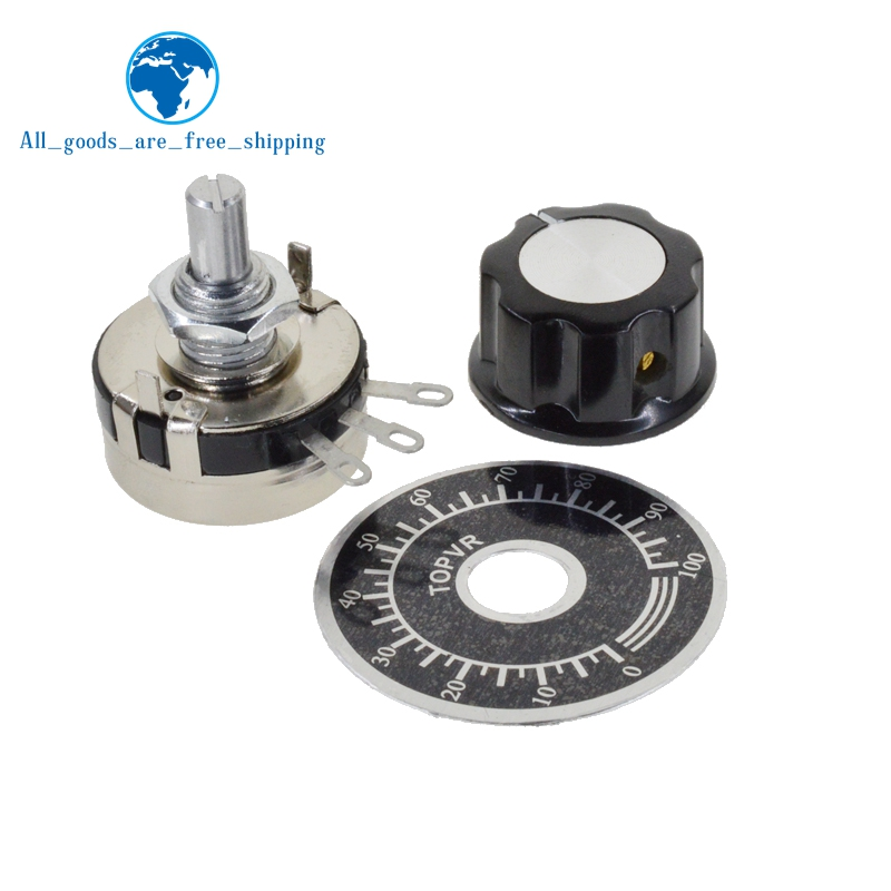 A03 knob TWTADE //WTH118-2W 100K ohm Dual Gang Potentiometer Carbon Linear Variable Turn Rotary Potentiometer