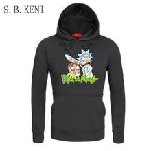 2018 autumn hot anime sweatshirt men blood youth Cool Rick Morty Fashion brand clothing hip hop fitness men's hoodies funny