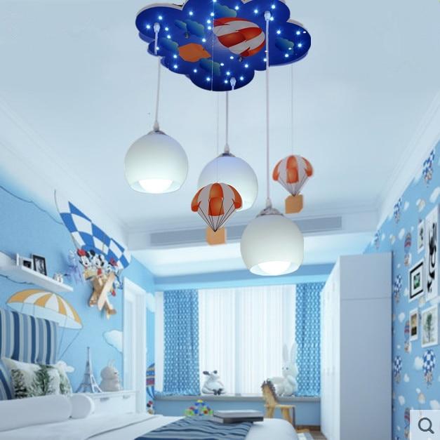 Boy Cartoon Childrenu0027s Room Lamp Hot Air Balloon Modeling Ceiling Lamp  110v  220v Kids Light Free Shipping