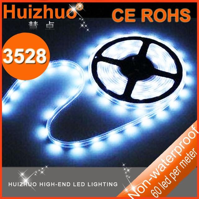 Free shipping Bulk price 50meters/lot SMD3528 60leds/m 300 LEDs Non-waterproof LED Flexible strip light DC12V led light strip