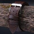 18 mm 20 mm 22 mm 24 mm Brown homem novo Top Grade Lizard pattern Genuine faixa de relógio de couro correia entrega gratuita