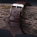 18mm 20mm 22mm 24mm Brown MAN New Top Grade Lizard pattern Genuine Leather Watch BAND Strap Free Delivery