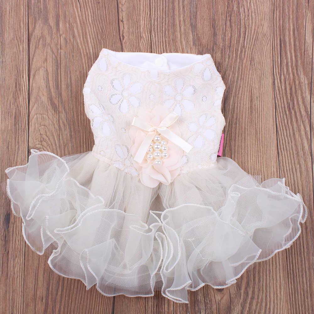 Новая собака, кошка, принцесса свадебное платье пачка маргаритки цветы юбка для щенка Весна/Лето одежда 3 цвета 4 размера