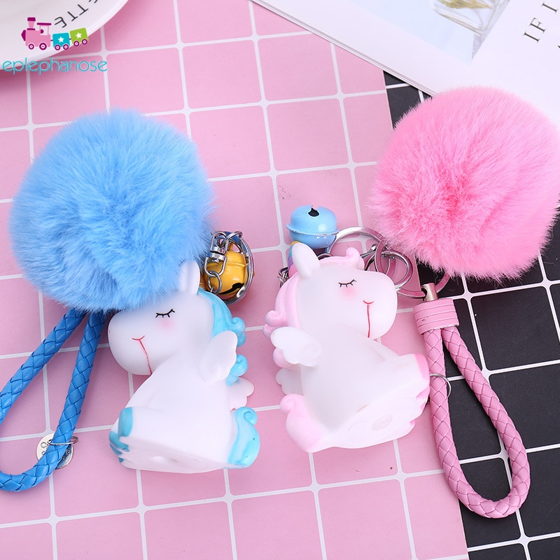 Rabbit Hair Key Ring Kawaii Dolls Toy 1